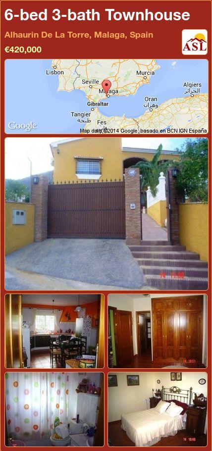 6-bed 3-bath Townhouse in Alhaurin De La Torre, Malaga, Spain ►€420,000 #PropertyForSaleInSpain