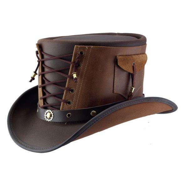 Chapeau haut de forme en cuir
