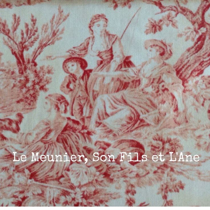 New fabric!  Reproduction of famous toile de jouy produced at the Oberkampf Manufactory.