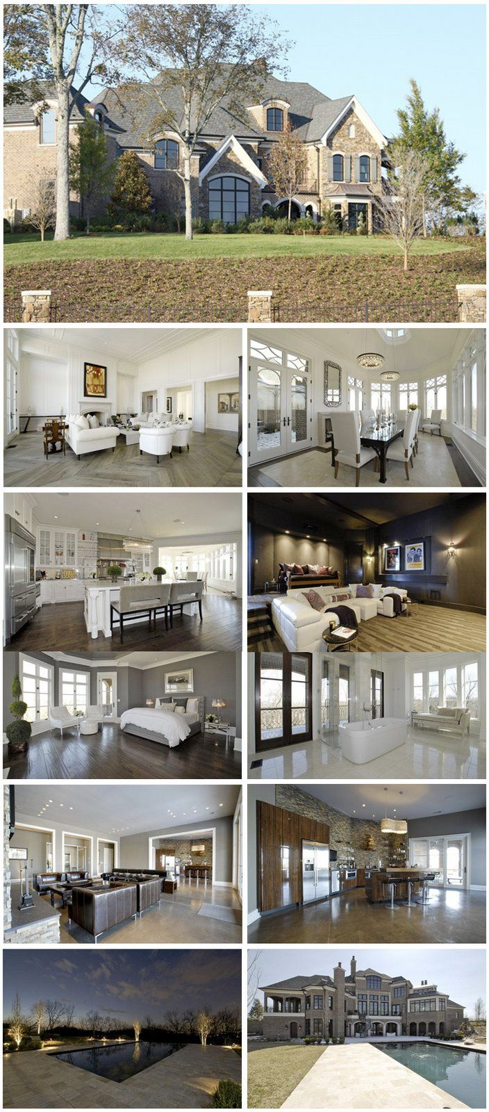 114 best homes of the rich and famous images on pinterest for Inside homes rich famous