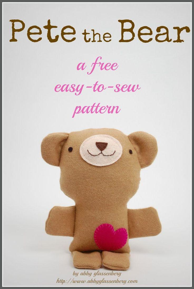 Free Teddy Bear Sewing Pattern: Pete the Bear