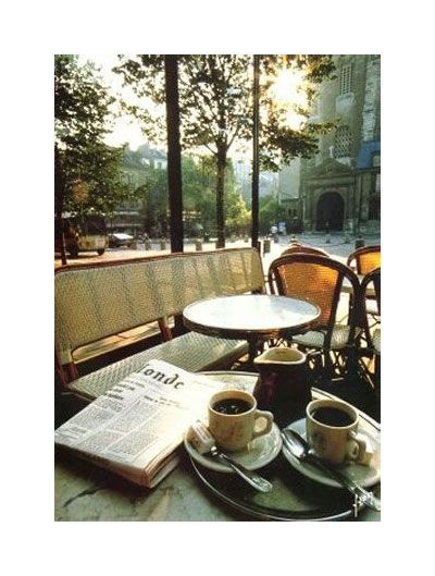 I could spend all day people watching at most any Paris cafe...  The city isn't too bad either!