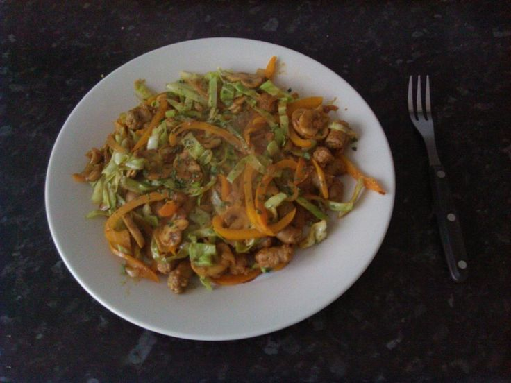 Stir Fried Cabbage and sausage http://bit.ly/Recipe4share