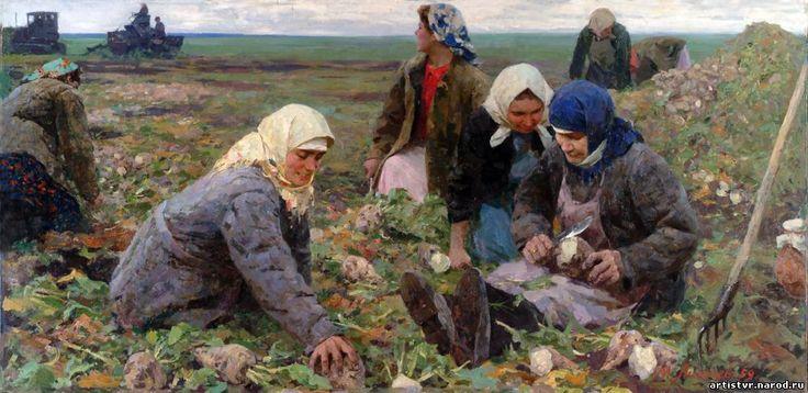 «Свекловичницы» (1959) Лихачев Михаил Иванович (4.09.1919 - 13.02.1997).