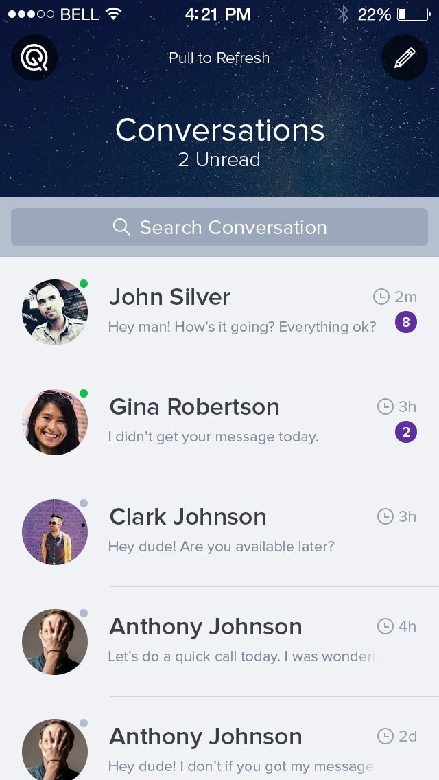 Conversations by Ionut Zamfir #UX #iOS