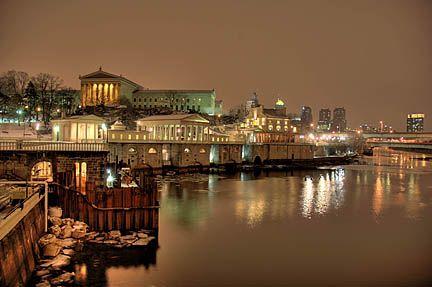 Philadelphia art museum@ night