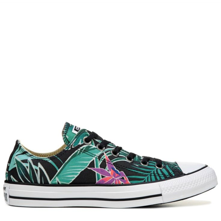 Converse Chuck Taylor All Star Print Low Top Sneakers (Menta/Black/White) - 7.0 M