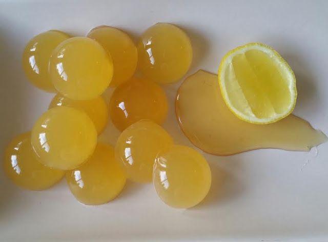 Lemon and Honey Jelly Drops