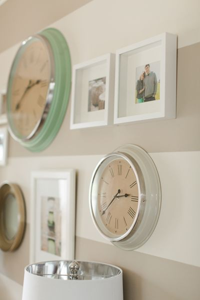 Southern Newlywed: At Home with Katelyn James - Southern Weddings Magazine/clocks and pictures