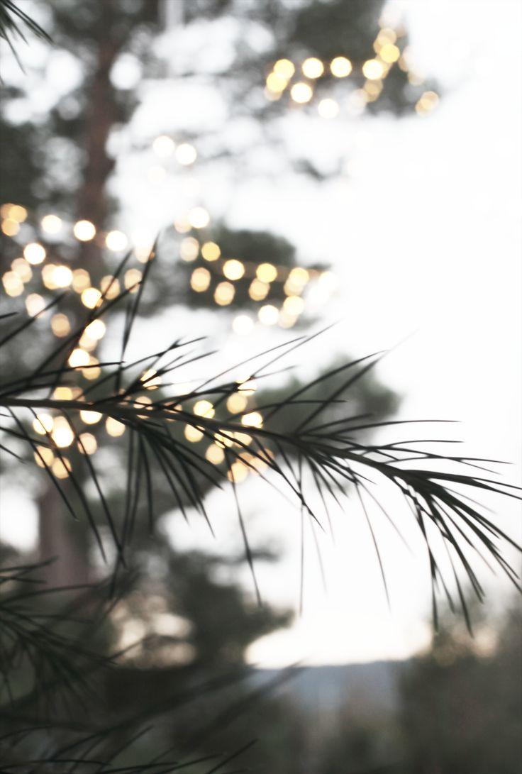 Puter, pledd og saueskinn i kombinasjon med enkle stjerner i vinduet og et lite tre er alt som behøves for å lage julestemning tidlig i desember.
