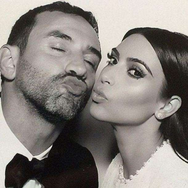 Kim Kardashian and Riccardo Tisci