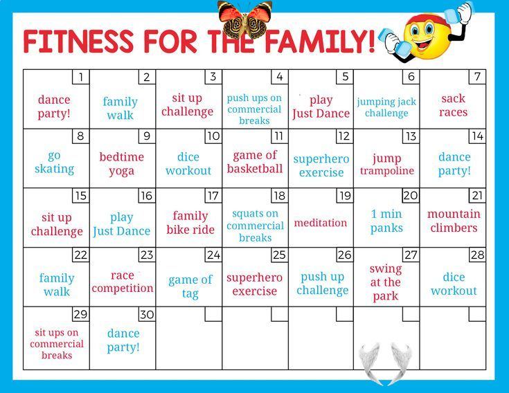 30 Day Family Fitness Challenge Fun Family Fitness Challenge Br Get Up And Move And Have Fun Doing It 2020 Egzersiz Meydan Okumasi