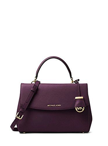 0fa46408476d4 MICHAEL Michael Kors Ava Medium Saffiano Leather Satchel in Damson Review