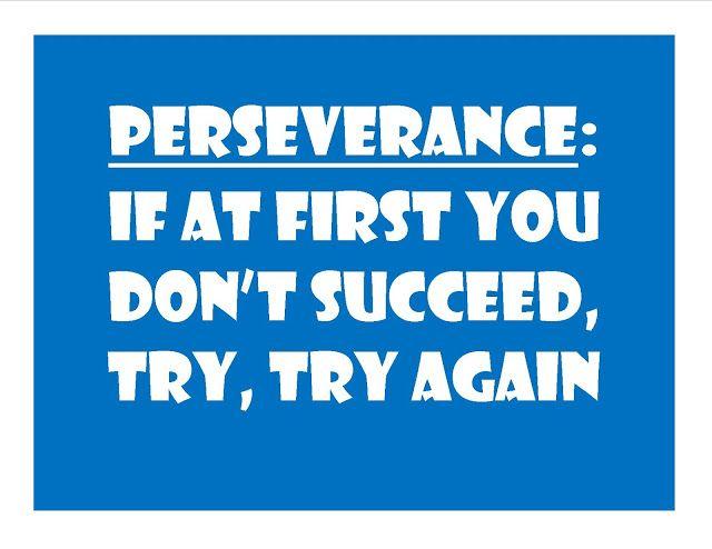 For Perseverance bulletin board