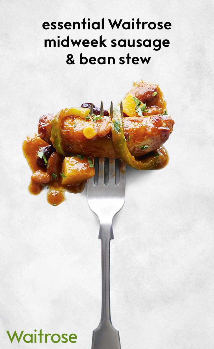 Mixed bean and potato stew with British pork sausage is perfect if you are looking for a quick and easy warming dinner. For the full recipe, see the Waitrose website.
