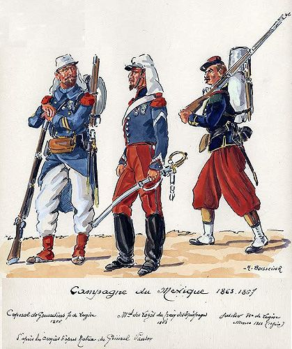 The Mexican Adventure: Uniforms: French Army