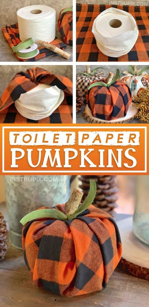 DIY Fall Decor Idea: Toilet Paper Pumpkins (Cheap & Easy!)