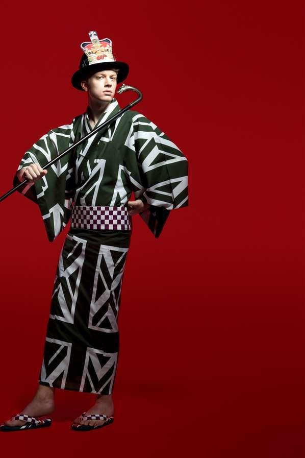 Killer Kimono Couture - The Natasha Ygel 'Kabuki' Series is Edgy and Worldly (GALLERY)