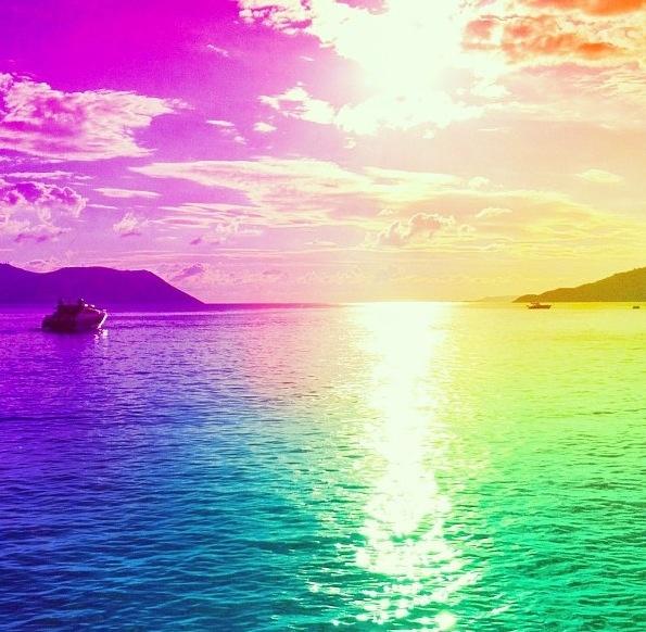 Rainbow Colored Sunset Sunset Sensationals Sunset