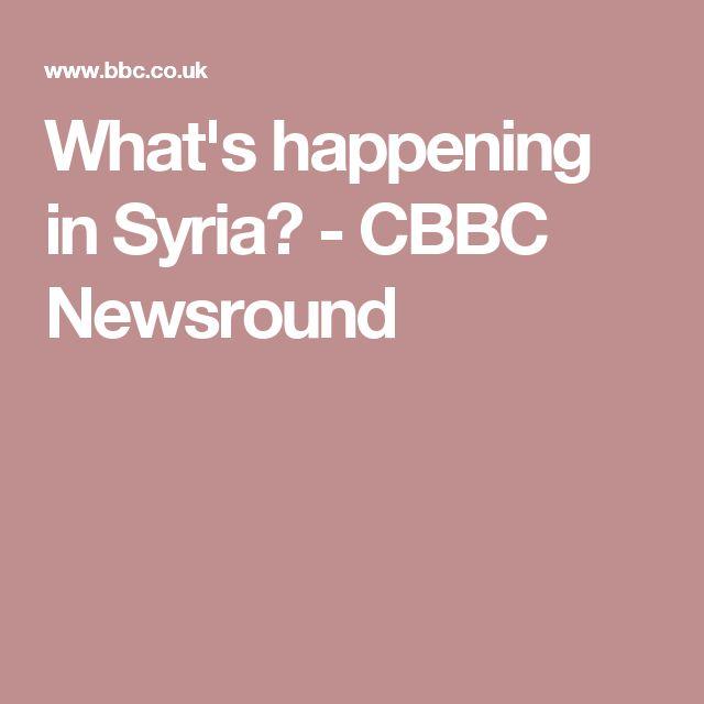 What's happening in Syria? - CBBC Newsround