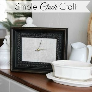 Make it: A Picture Frame Clock Craft - Fox Hollow Cottage