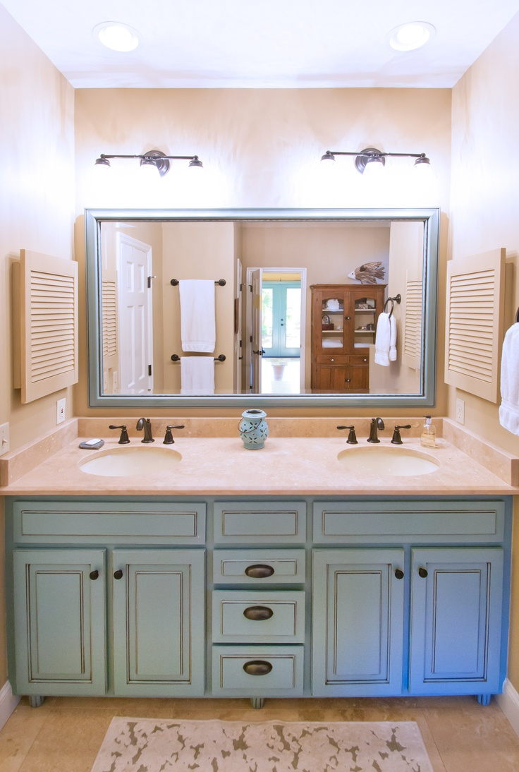 Blue Bathroom Vanity Robins Egg Persian Green Light And Mirror