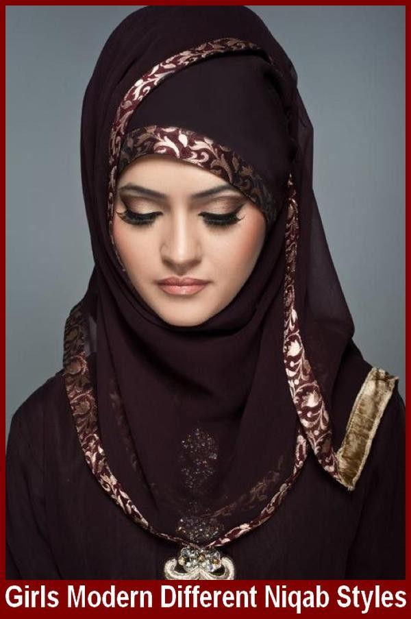 Girls Modern Different Niqab Styles #WearNiqab #NiqabStyles #DifferentNiqab
