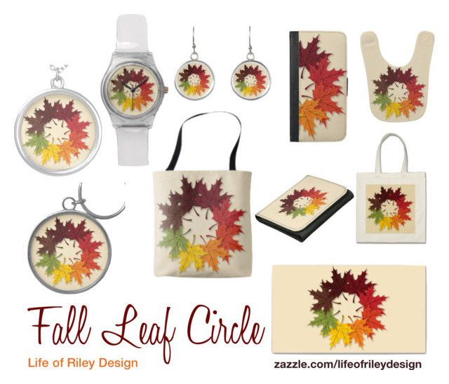 """Fall Leaf Circle"" by lifeofrileydesign on Polyvore"