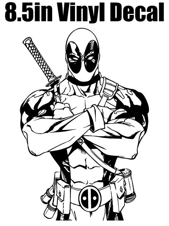 Deadpool Silhouette 8 5 Quot Vinyl Window Decal Available