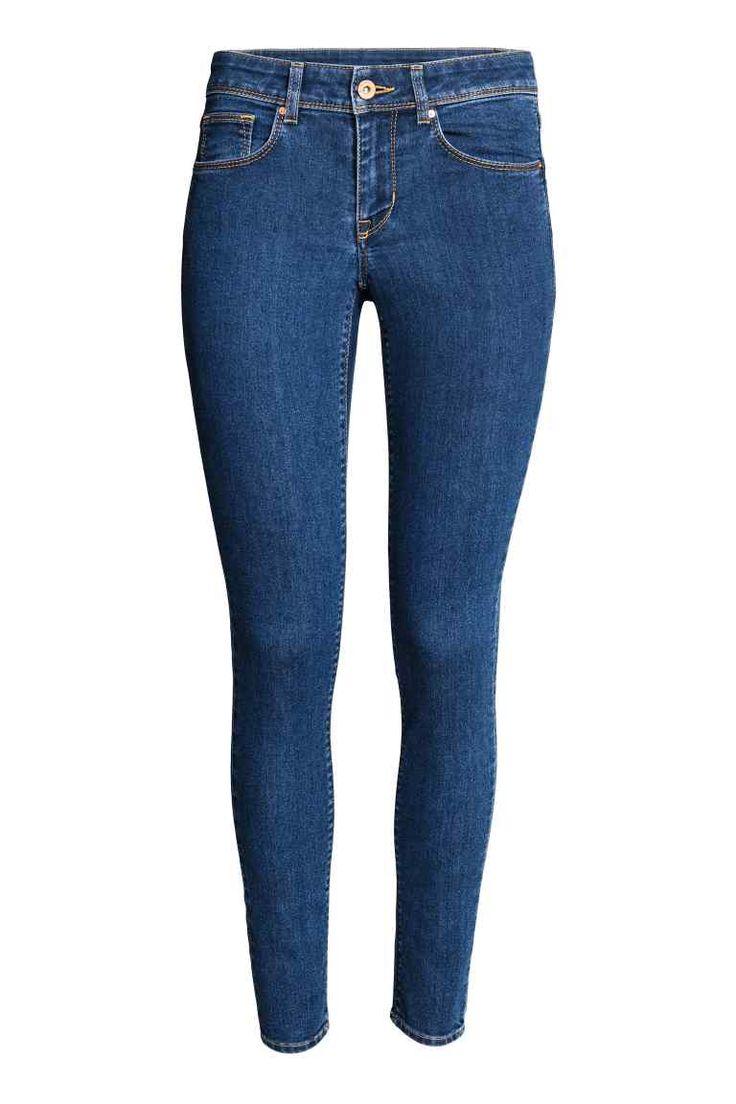 Super Skinny Regular Jeans - Tmavý denim blue - ŽENY | H&M CZ
