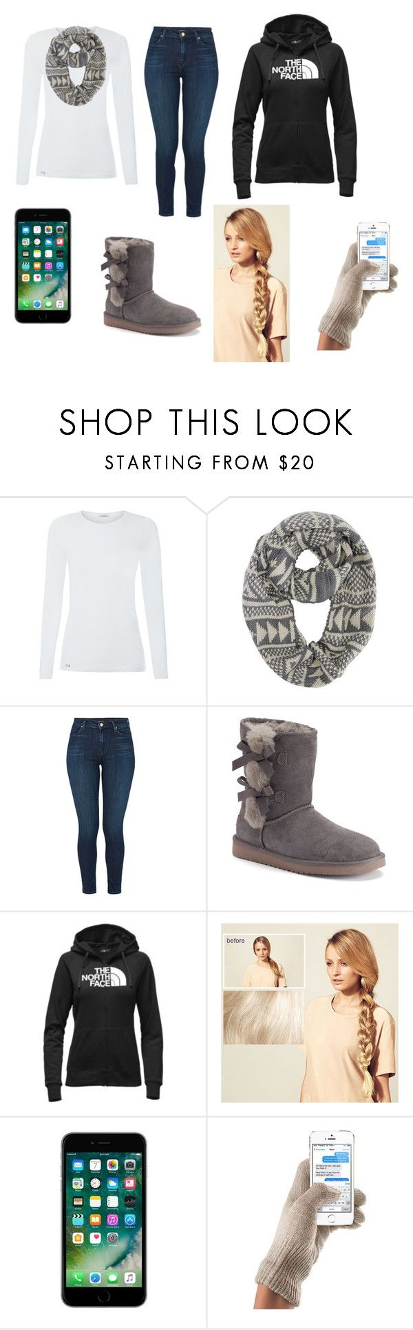 """""""Winter outfit"""" by sfeeley ❤ liked on Polyvore featuring J Brand, Koolaburra, The North Face and Hershesons"""