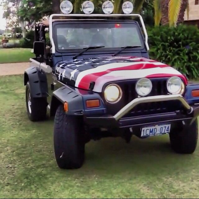American Flag Painted Jeep Jeep Pinterest Flags