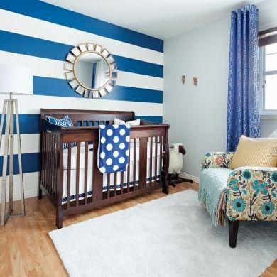 Magiques rayures dans la chambre de bébé - Chambre - Inspirations - Décoration et rénovation - Pratico Pratique