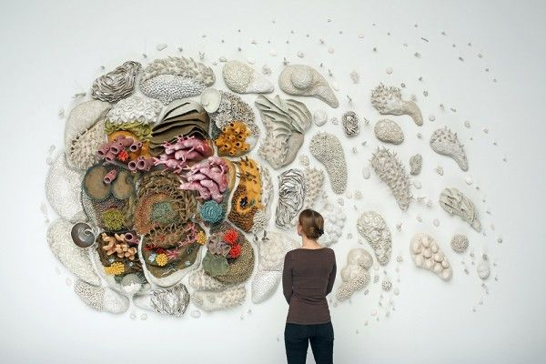 Our Changing Seas, Large-Scale Ceramic Coral Reef Sculpture by Courtney Mattison