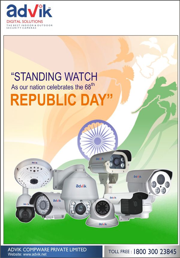 Building a secure nation with new age security #surveillance systems, #AdvikDigitalSolutions wishes you a #HappyRepublicDay.