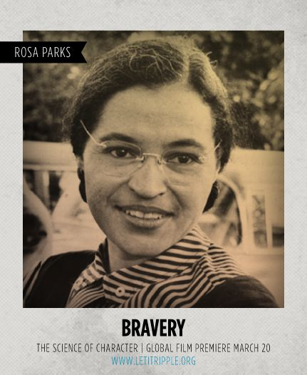 Rosa Parks is our inspiration for #Bravery #CharacterDay letitripple.org