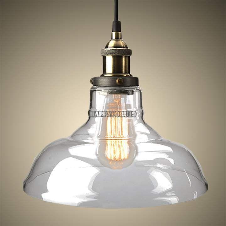 LED Glass Ceiling Light Industrial Chandelier Pendant Edison Lamp Fixture #UnbrandedGeneric #Traditional