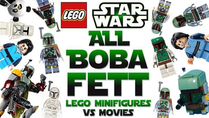 All BOBA FETT Lego Star Wars Minifigures vs Movie