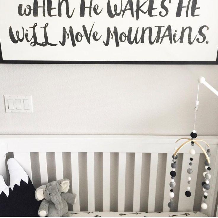 Black Mountain Pillow Decorative Nursery Cushion Decor For Boys Gift Kids Adventure