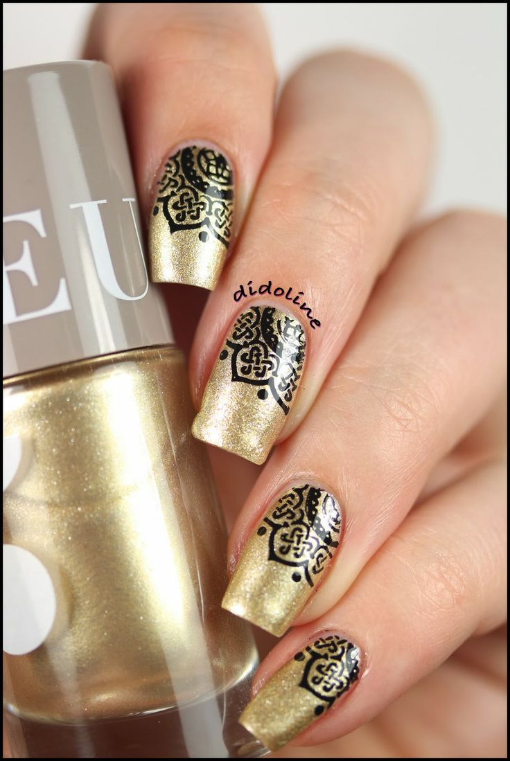 Camaïeu - Gold & Stamping ~ Didoline's Nails