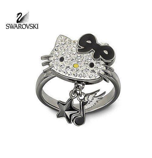 Swarovski Crystal Jewelry HELLO KITTY ROCK Ring Size: Large/8/58 #1145276 New in original box