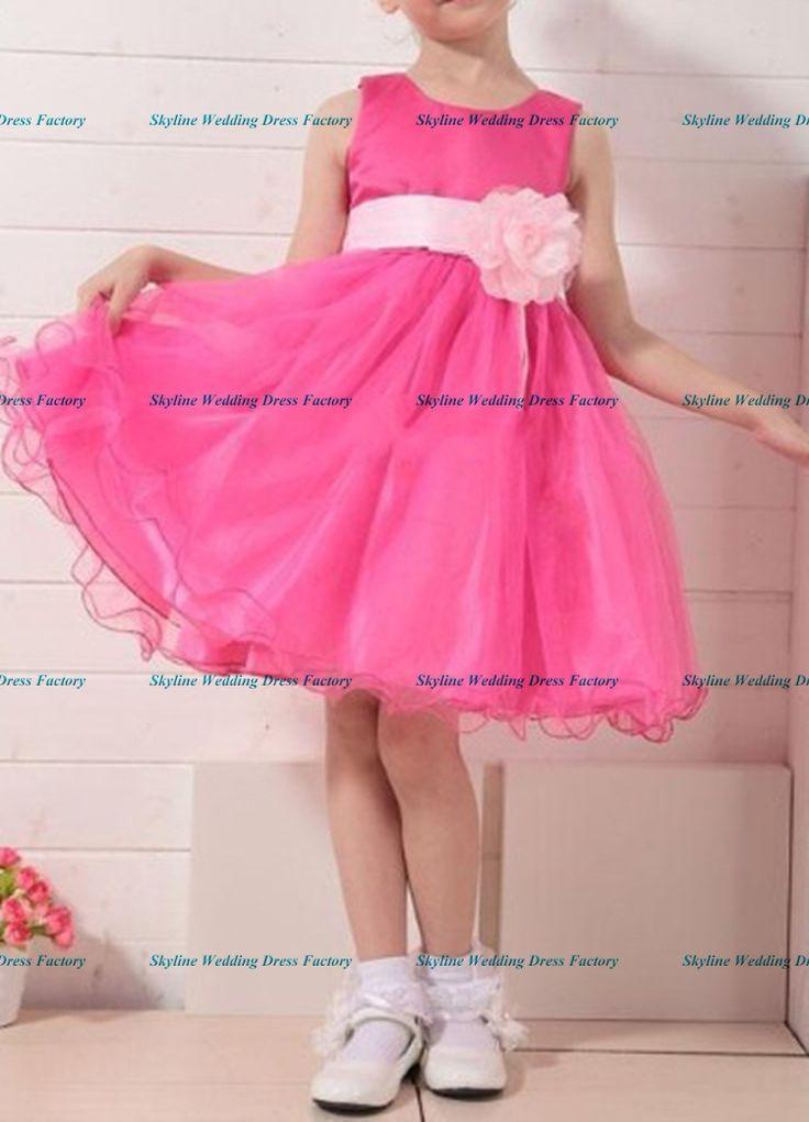 Горячая распродажа красные платья с розовыми цветами детские товары одежда девочки ну вечеринку платье 2015 девочка бальное платье для 3-12yrs