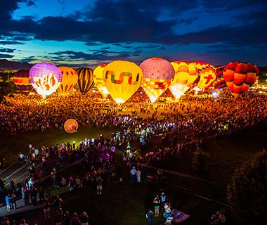 #Travel and Leisure's Best Hot-Air Balloon Rides - #Colorado Balloon Classic in Colorado Springs