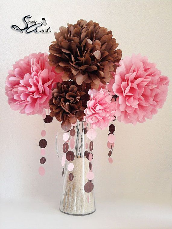 Tissue Paper Flowers for Weddings   Tissue Paper Flowers with stems Floral Arrangement Weddings Birthdays ...