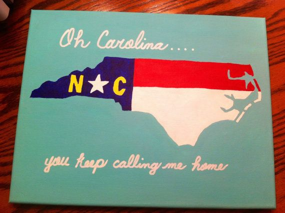 North Carolina State Flag Inspired Canvas by TheCarolinaCanvas