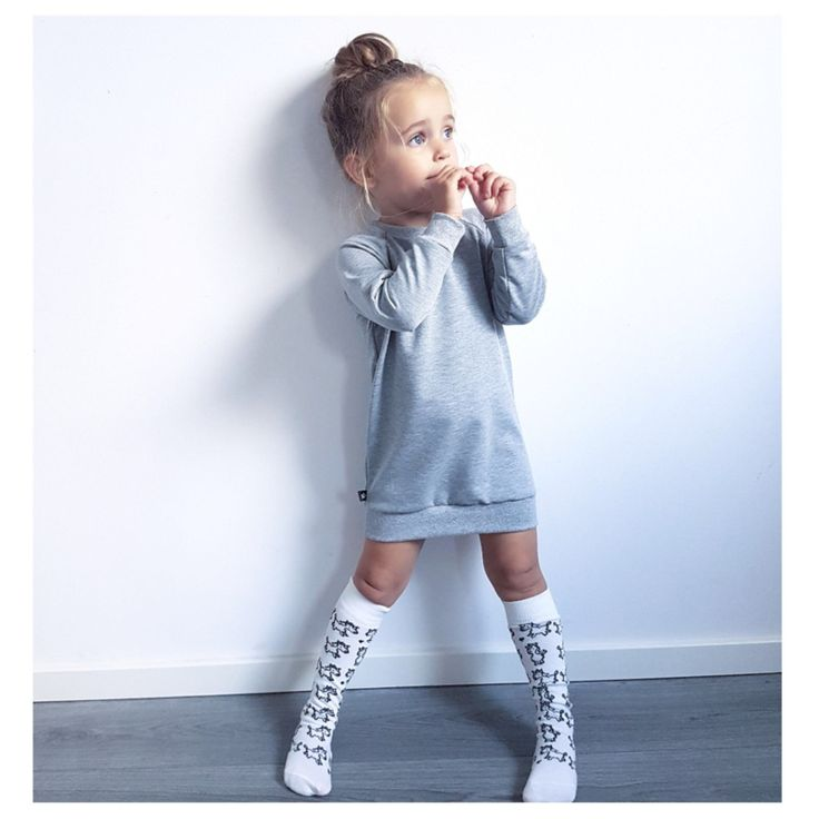 Sweaterdress Basic Grey