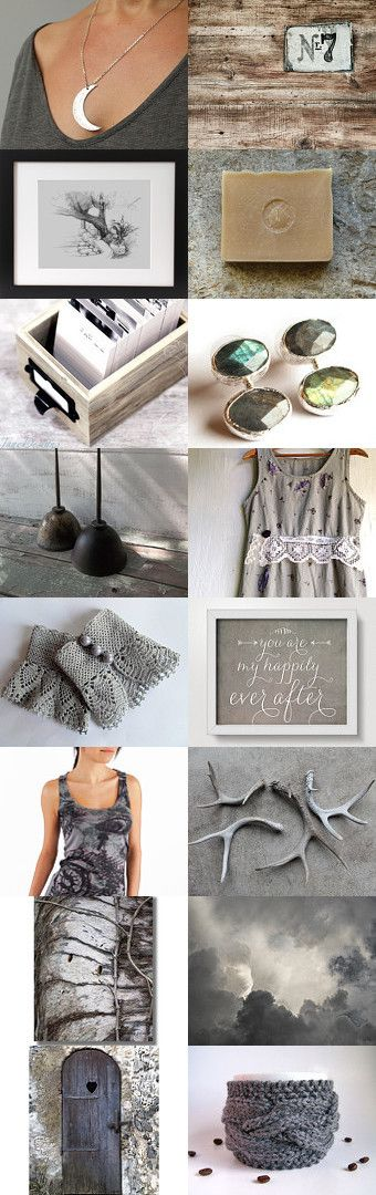 Sweet Grey by Mehru Pekus on Etsy--Pinned with TreasuryPin.com