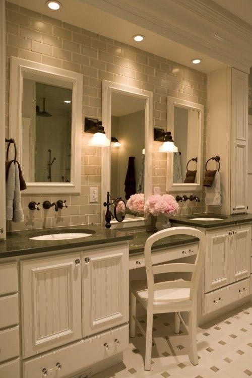 loooooove.Bathroom Design, Masterbath, Subway Tile, Vanities, Dreams Bathroom, Sinks, Bathroom Ideas, Master Baths, Master Bathroom