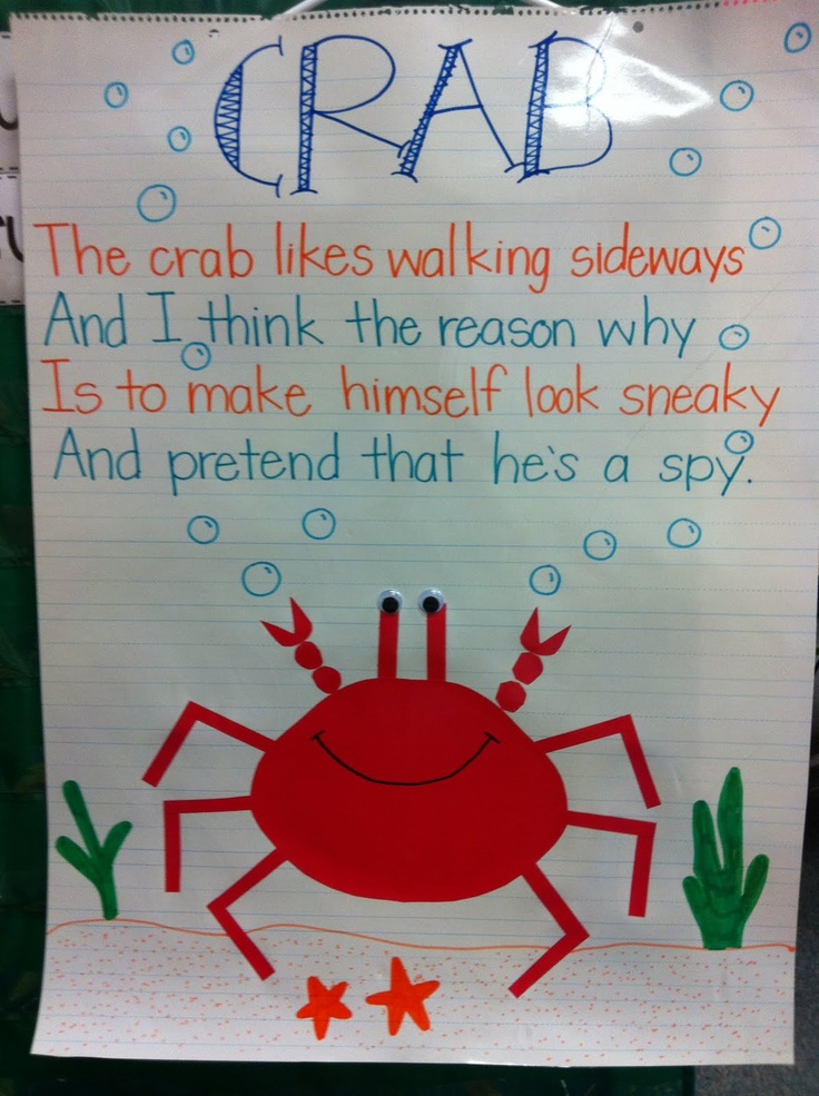 25 best ideas about crab craft preschool on pinterest for The fish poem