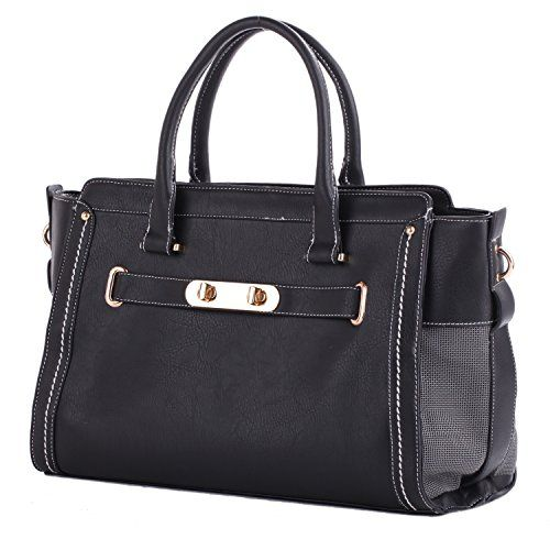 Dog Carrier Purses - Pet Carrier Dog Puppy Chihuahua Pug tote Handbag Dog Cat Kitty Travel Bag PU Leather Black >>> You can get more details by clicking on the image. (This is an Amazon affiliate link)